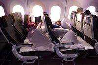 Air New Zealand's first Skycouch™ was first installed on the B777-300ER in 2011